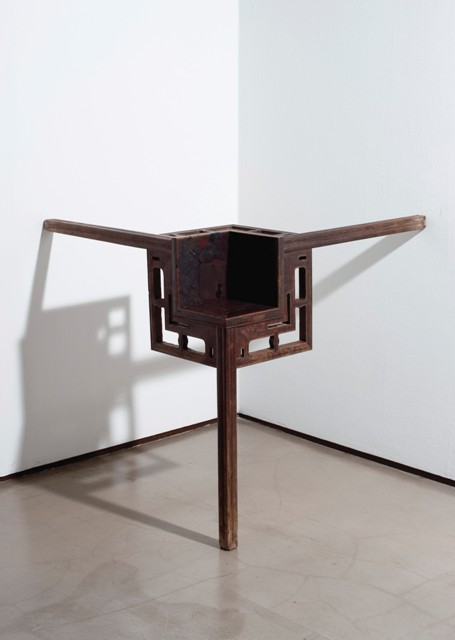 Ai Weiwei - Corner Table (2007) - qing dynasty wood - 43 3/8 X 43 3/8 X 43 3/8in (110 X 110 X 110cm) - est. £60,000 - £80,000