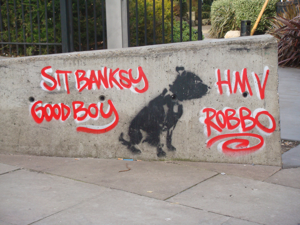 Not sure if this is Banksy?