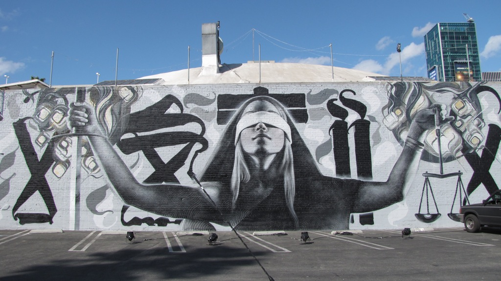 El Mac, Retna and Augustine Kofie Mural