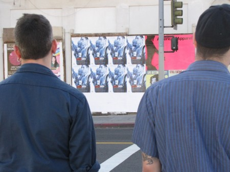 Eddie Colla and Ramon - scouting the neighborhood