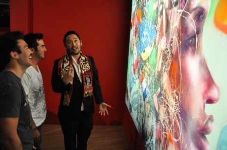 David Choe at LAzarides 90210