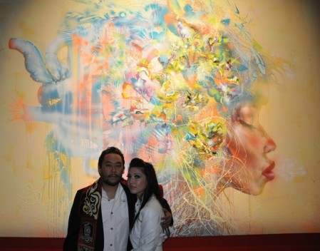 David Choe and his muse Nikki