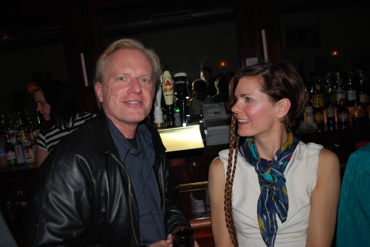 Kristen with Martin Irvine at the opening party
