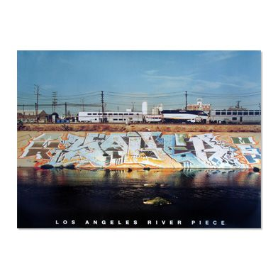 Saber's LA river piece (Poster available at www.saberone.com)