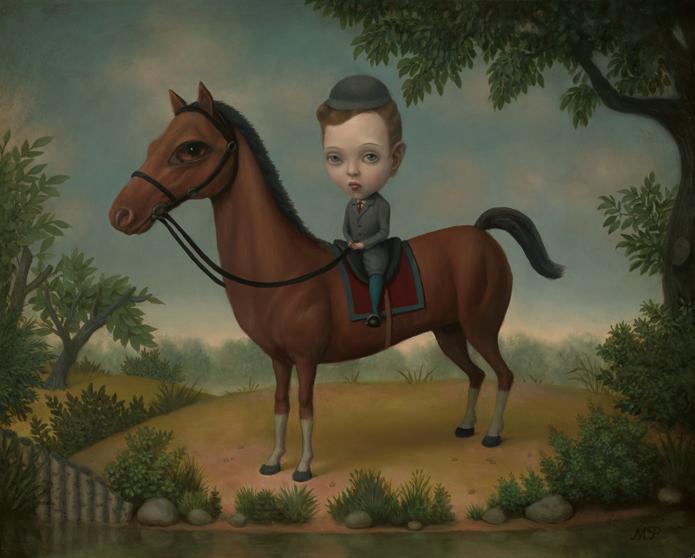 Marion Peck - Little Willie on Horseback