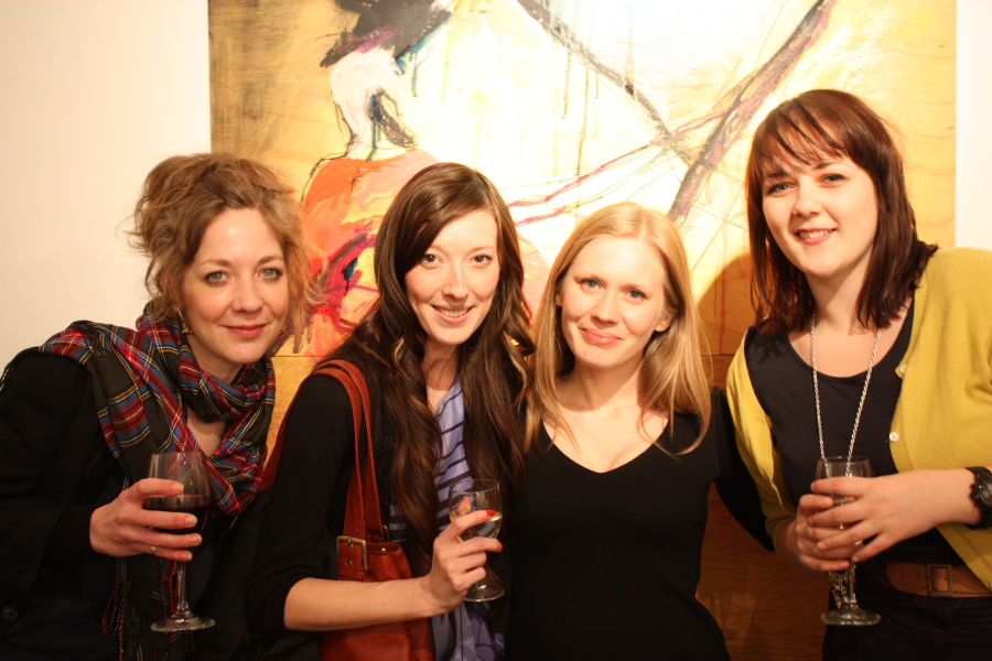 Charlotte Bracegirdle, Teresa Duck, Opus Director Emma Poole and Alexandra McClain