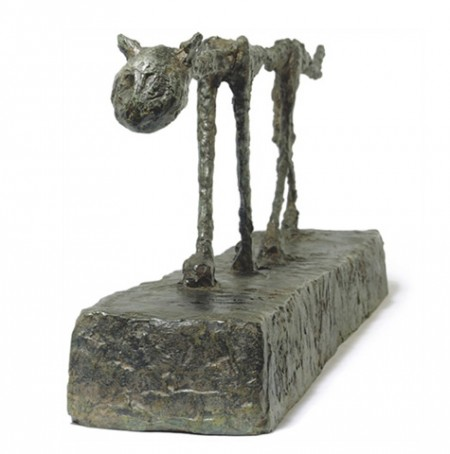 "Alberto Giacometti - ""Le Chat"" (sold for $20,802,500)"