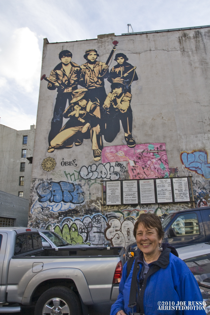 Martha Cooper at Wooster & Grand Mural of her collab with Shepard