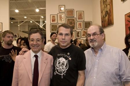 Jeffrey Deitch, Shepard Fairey & Salman Rushdie