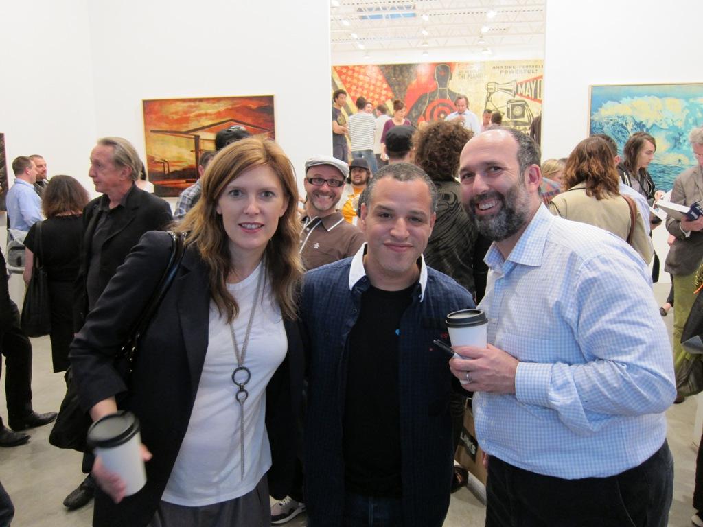 Sara Schiller + Marc Schiller (Wooster Collective!) w/ Dzine in center