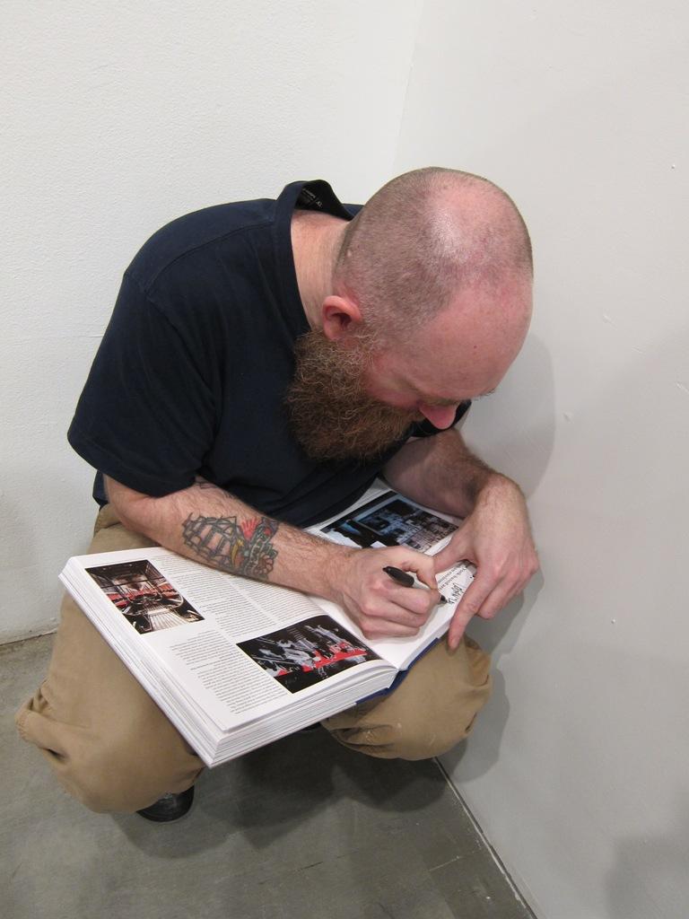 Logan cuts a sick stencil in our book...