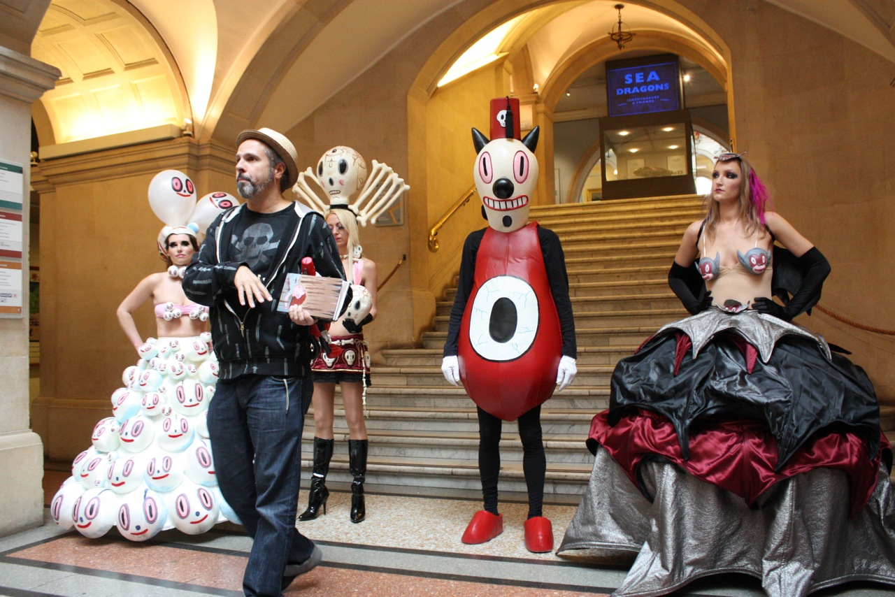 Gary Baseman holds court