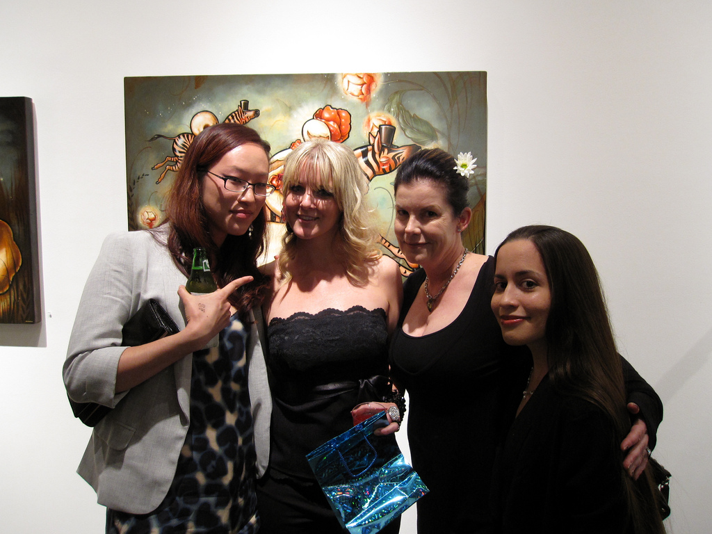 L -> R: Sylvia Ji, Brandi Milne, Jan Corey, Mia