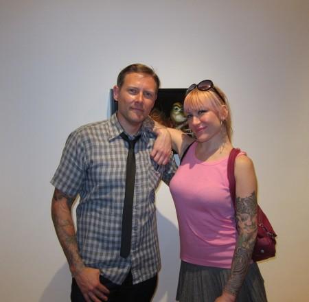 Greg Simkins & Tara McPherson - Baby Tattooville NYC!