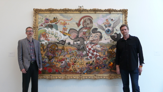Todd Schorr with Nike CEO Mark Parker