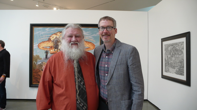 Todd Schorr with Last Gasp publisher Ron Turner