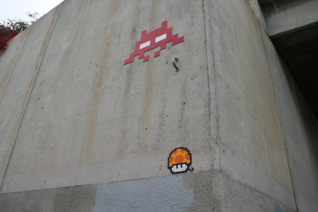 Invader in San Diego (image via Susan Williams)