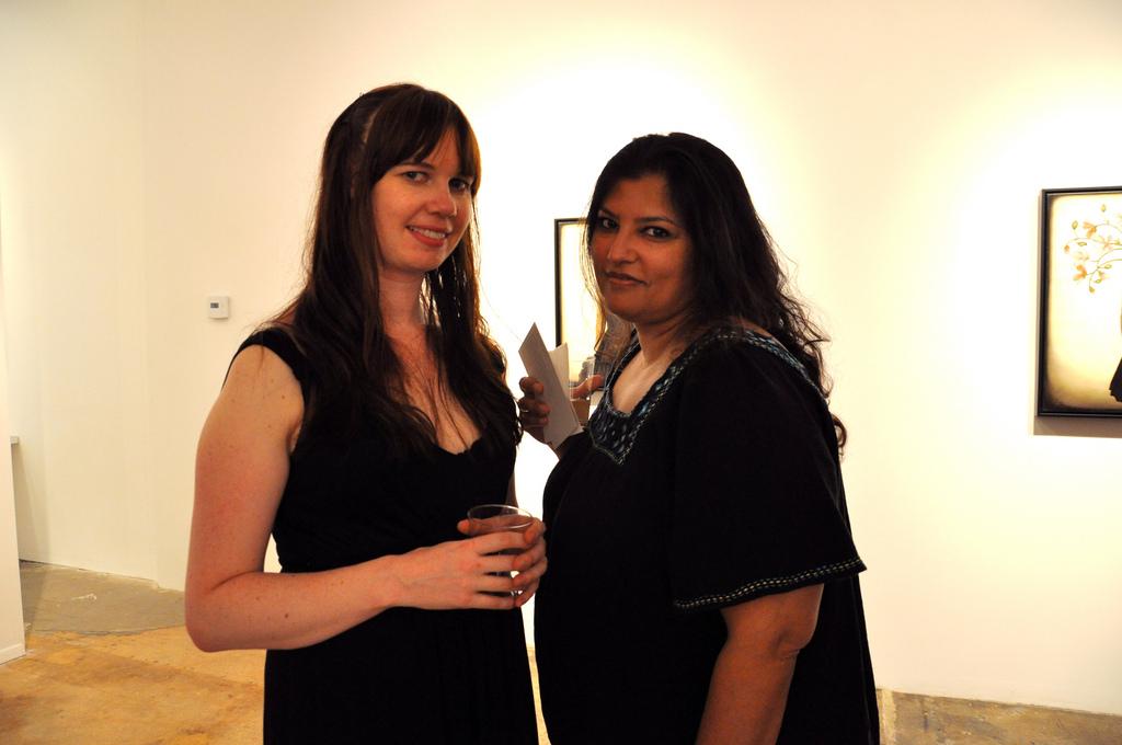 Melissa Haslam on the left