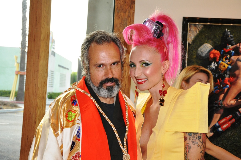 Natalia with the most interesting artist in the world.
