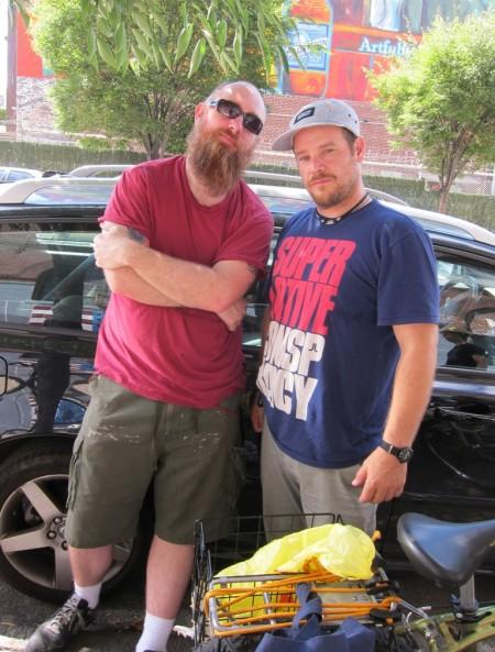 Logan Hicks & Stash showed up to rep the hood
