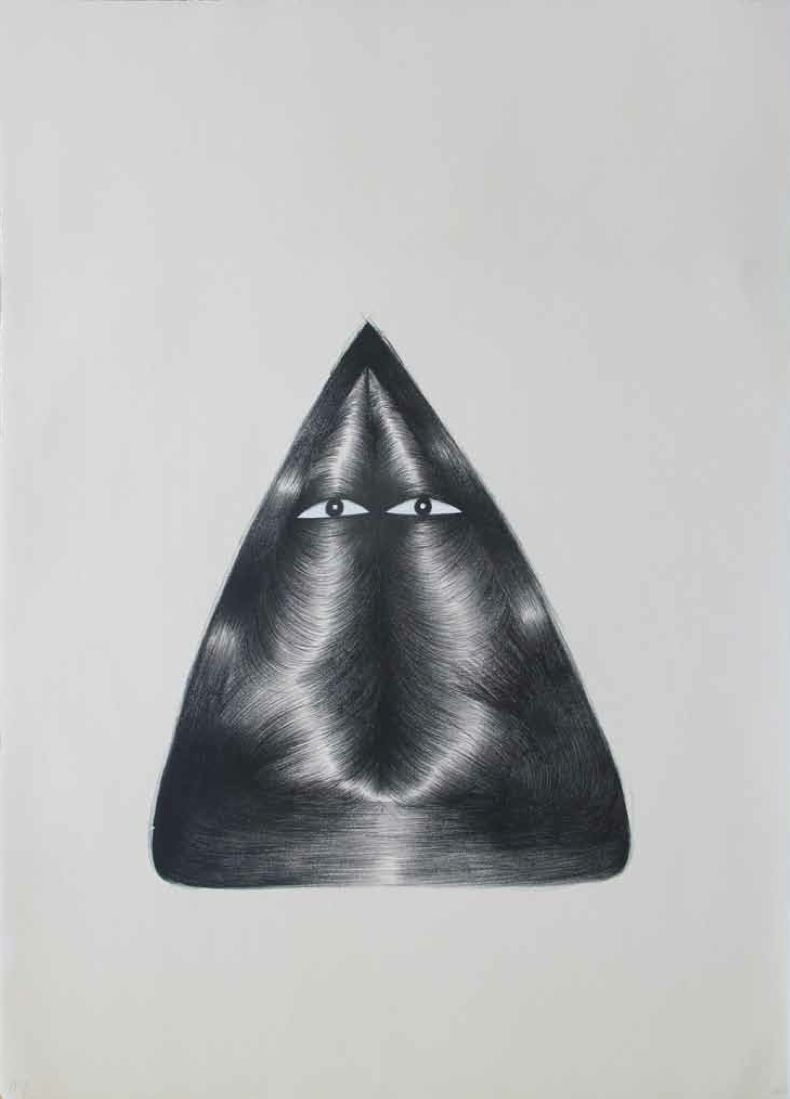 Barry McGee - Untitled. 2010 (Big Head) - 56 x 76 cm. Ed of 60 + 3 AP + 3 PP. (1530 Euros)