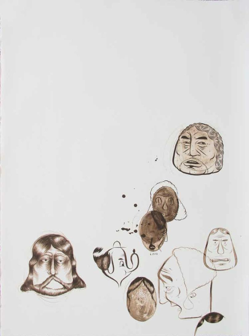 Barry McGee - Untitled. 2010 (Multiple drawings) - 56 x 76 cm. Ed of 75 + 7 AP + 7 PP. (1530 Euros)