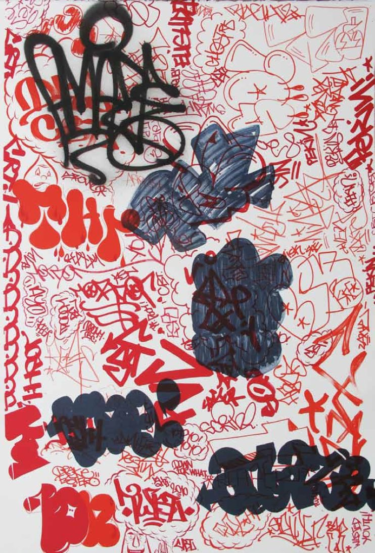 Barry McGee / Todd James / Amaze - Untitled. 2010 (Tags) - 70 x 100 cm. Ed of 60 + 6 AP + 6 PP. (1530 Euros)