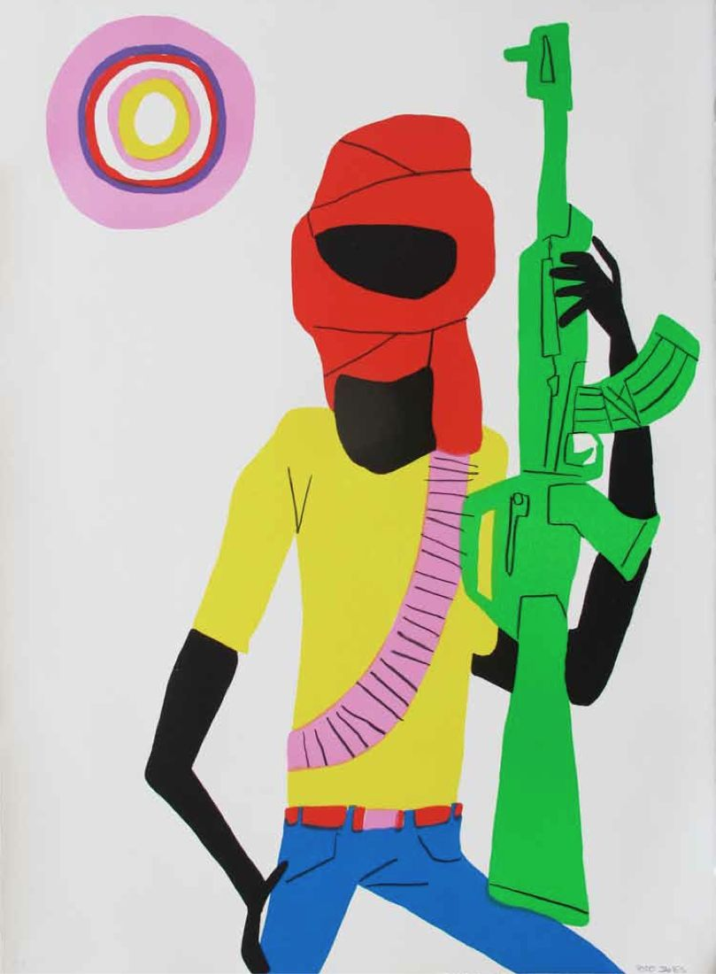 Todd James - Untitled. 2010. (Somali Soldier) - 56 x 76 cm. Ed of 50 + 3 AP + 3 PP. (600 Euros)