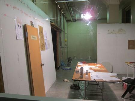 A quick peek into the temp studio of Yoshitomo Nara