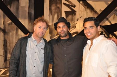 Retna (center), Carlos Rivera (right)