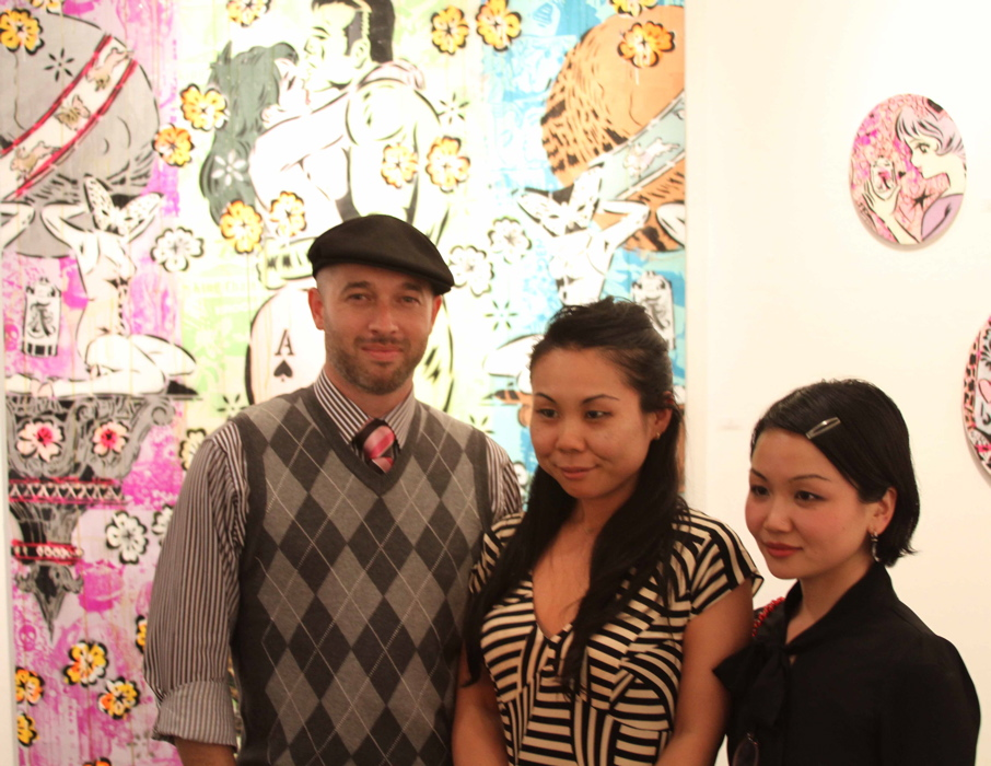 Aiko and Junko with Samuel Lowder