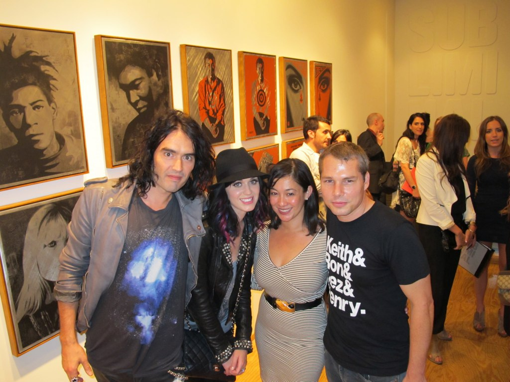 Russell Brand, Katy Perry, Amanda Fairey, Shepard Fairey. Photo via Sonja Teri.