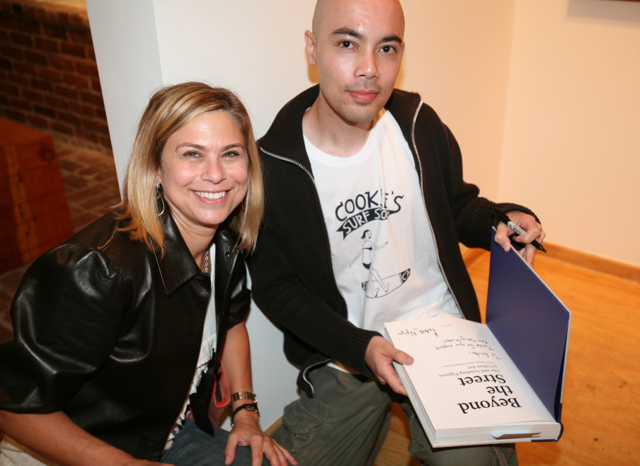Photographer Anita Rosenberg with Patrick Nguyen