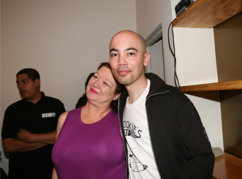 Former FUN Gallery co-owner Patti Astor and Patrick Nguyen