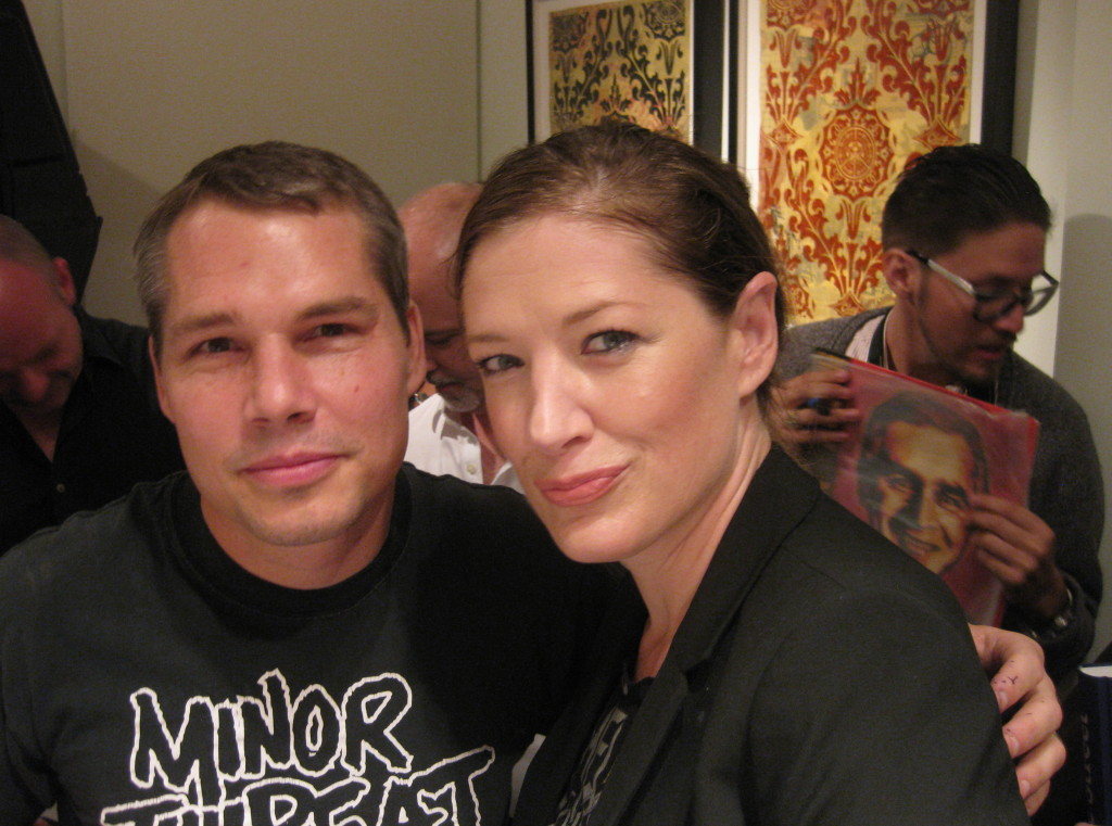 Shepard Fairey with photographer Erin Alexandra Epps