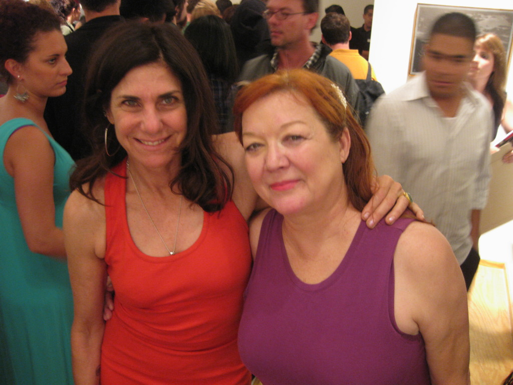 New Image Art's Marsea Goldberg with Patti Astor