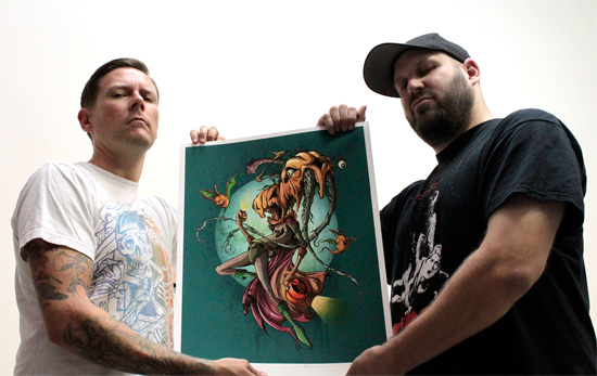 The Orange Lantern print from Craola and Alex Pardee