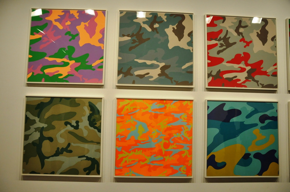 openings andy warhol camouflage honor fraser arrested motion. Black Bedroom Furniture Sets. Home Design Ideas