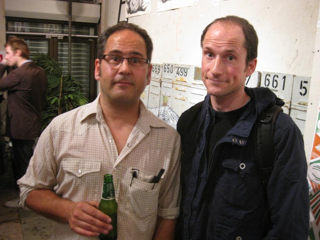 Author Tristan Manco (left) with friend