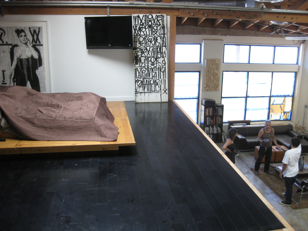 'Got Paint 1' monoprint on the left