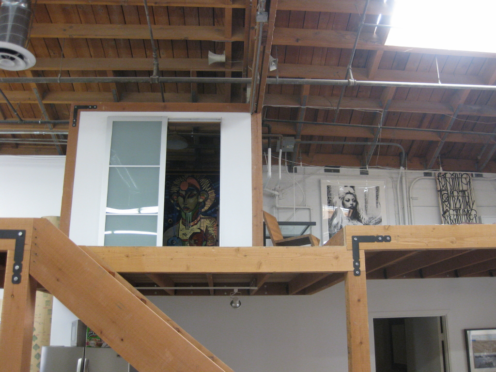 'Carcassonne I' acrylic on cancas (left) and 'The Black Claw 1' monoprint (centre)