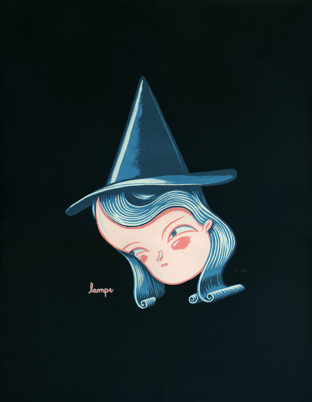 Travis Lampe Witch print from www.fantasycryland.bigcartel.com