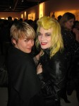 Fashion designer Pam Hogg (right) with fellow guest, Emma Ford