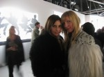 Designer Annette Felder (right) with friend