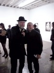 Mike Giant and gallery owner, Andres Guerrero