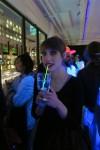 Zaza shows off her delicious beverage...