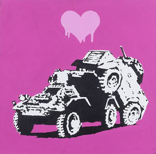 "Banksy - ""Everytime I Make Love To You I Think Of Someone Else"" sold for approx. $65,000"