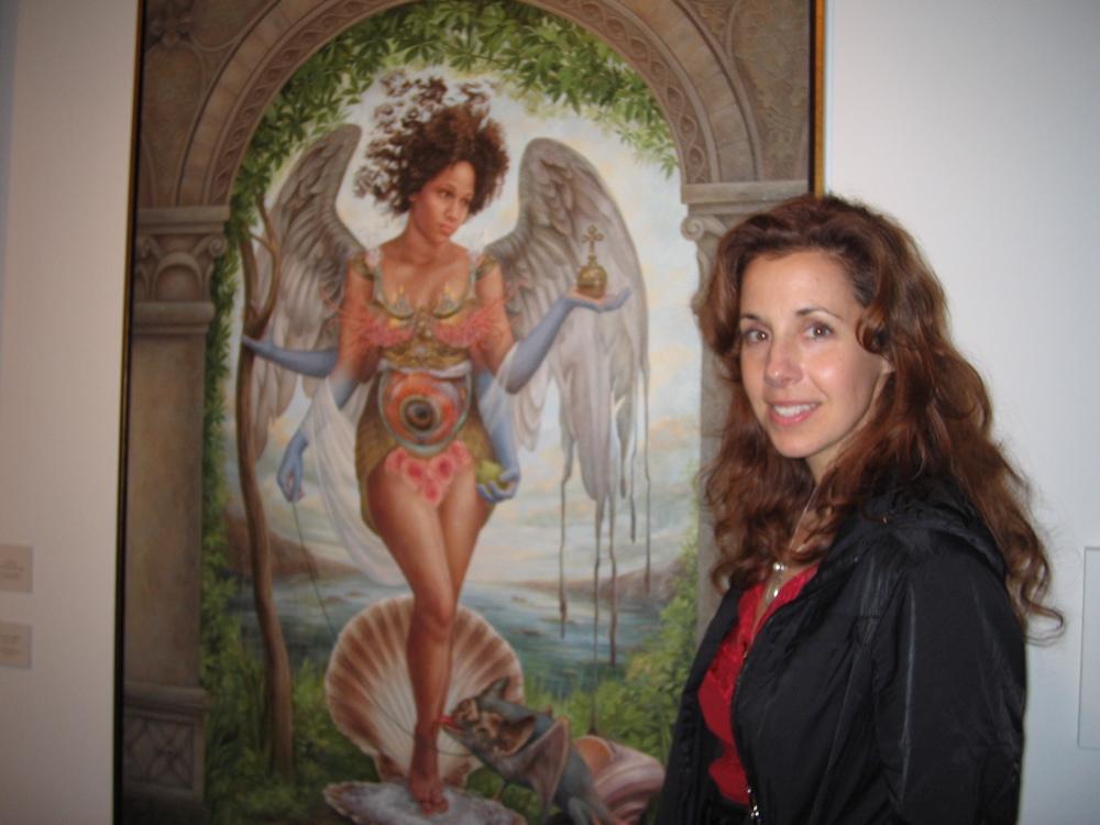 Heidi Taillefer with piece