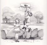 Tresspass, Graphite on paper, 10 x 10 inch, 2011