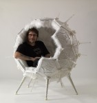 Colin in Orbit Chair sculpture